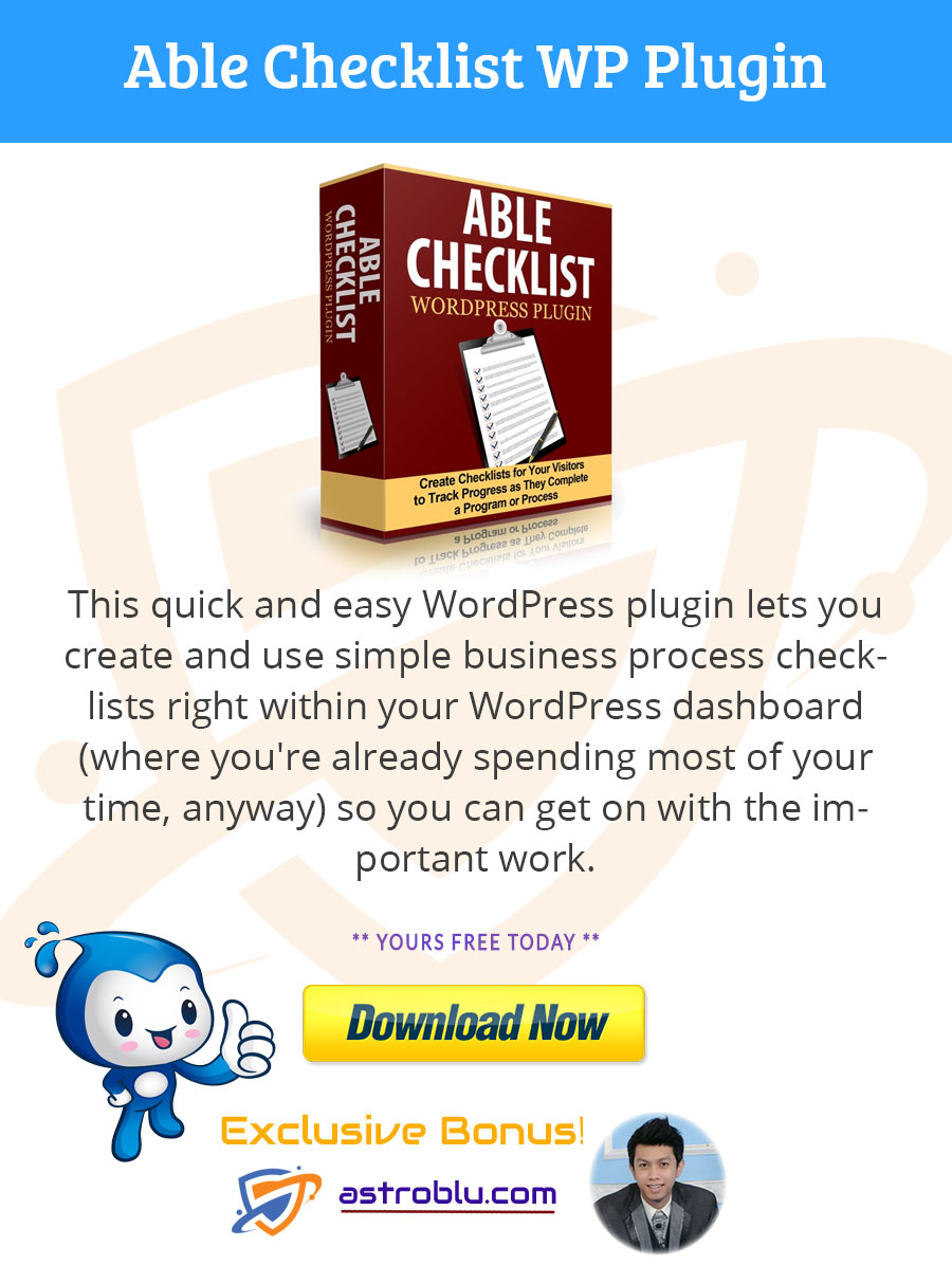 Get Bonus Able Checklist WP Plugin