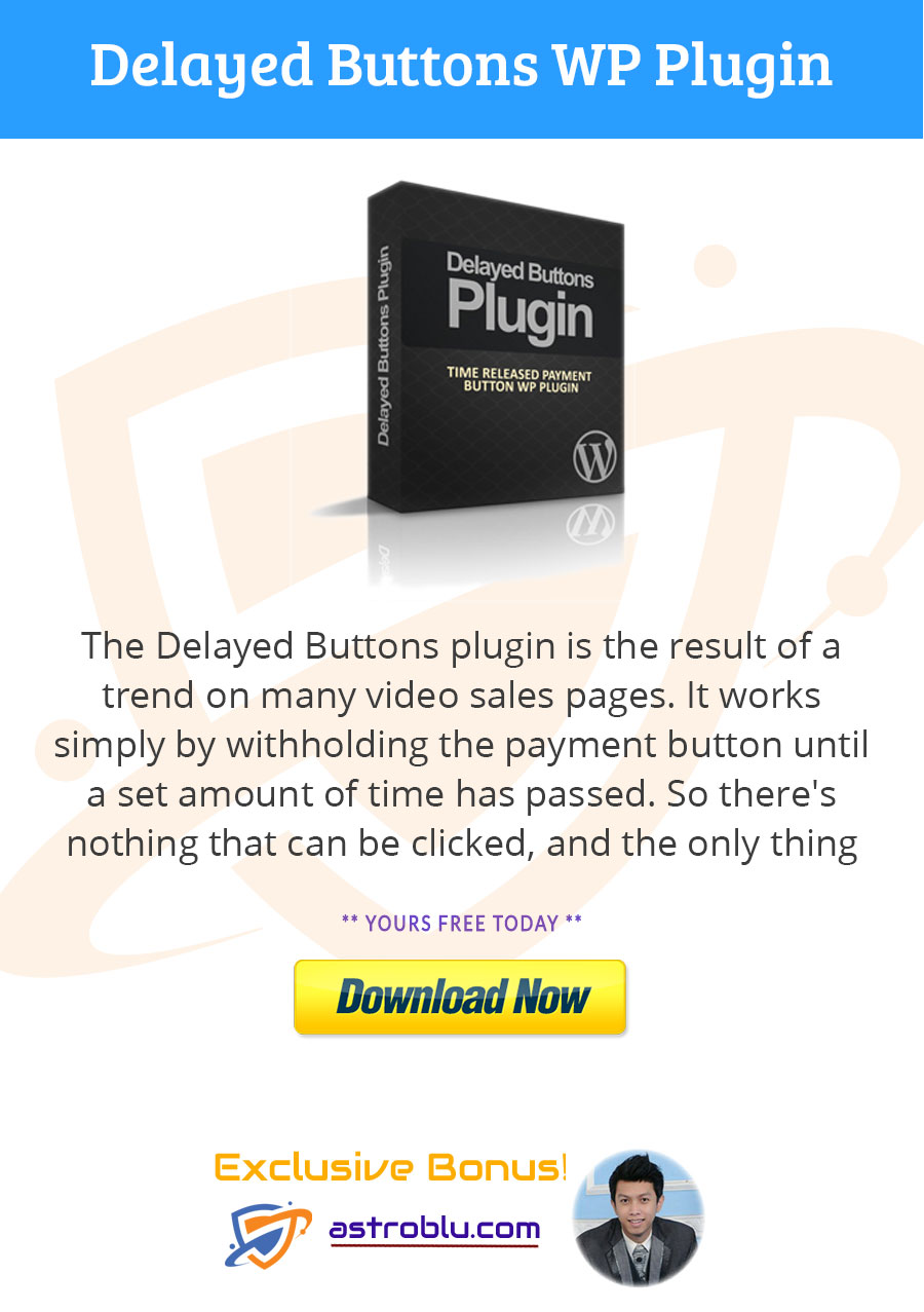 Get Bonus Delayed Buttons WP Plugin